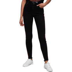 Υφασμάτινα Γυναίκα Skinny Τζιν  Superdry G70015ER Μαύρος