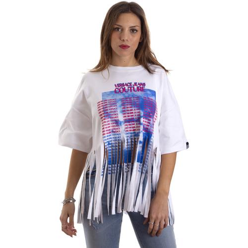 Υφασμάτινα Γυναίκα T-shirt με κοντά μανίκια Versace B2HVB7V730384003 λευκό