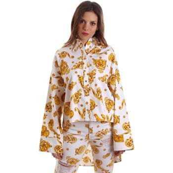 Υφασμάτινα Γυναίκα Πουκάμισα Versace B0HVB624S0771003 λευκό