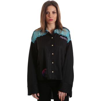 Υφασμάτινα Γυναίκα Πουκάμισα Versace B0HVB60310623899 Μαύρος