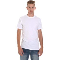 Υφασμάτινα Άνδρας T-shirt με κοντά μανίκια Les Copains 9U9011 λευκό