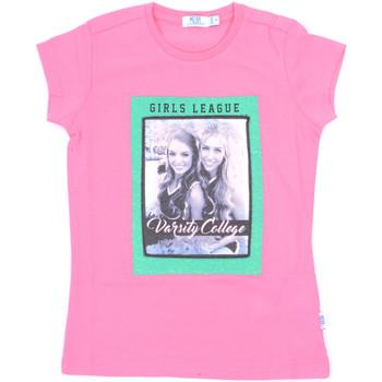 Υφασμάτινα Κορίτσι T-shirt με κοντά μανίκια Melby 70E5645 Ροζ