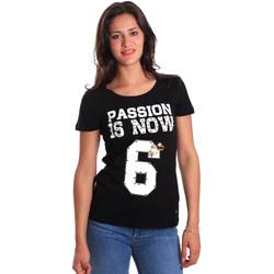 Υφασμάτινα Γυναίκα T-shirt με κοντά μανίκια Gaudi 811FD64056 Μαύρος