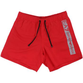 Υφασμάτινα Άνδρας Μαγιώ / shorts για την παραλία Emporio Armani EA7 902000 0P732 το κόκκινο