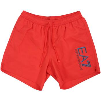 Υφασμάτινα Άνδρας Μαγιώ / shorts για την παραλία Ea7 Emporio Armani 902000 0P738 το κόκκινο