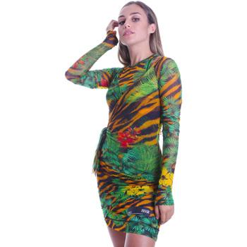 Υφασμάτινα Γυναίκα Κοντά Φορέματα Versace D2HVB495S0782983 Μαύρος