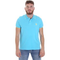 Υφασμάτινα Άνδρας Πόλο με κοντά μανίκια  U.S Polo Assn. 58561 41029 Μπλε