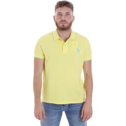 Υφασμάτινα Άνδρας Πόλο με κοντά μανίκια  U.S Polo Assn. 58561 41029 Κίτρινος
