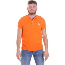 Υφασμάτινα Άνδρας Πόλο με κοντά μανίκια  U.S Polo Assn. 58561 41029 Πορτοκάλι
