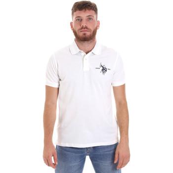 Υφασμάτινα Άνδρας Πόλο με κοντά μανίκια  U.S Polo Assn. 55959 41029 λευκό