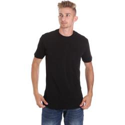Υφασμάτινα Άνδρας T-shirt με κοντά μανίκια Les Copains 9U9010 Μαύρος