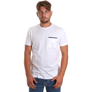 Υφασμάτινα Άνδρας T-shirt με κοντά μανίκια Antony Morato MMKS01798 FA100212 λευκό