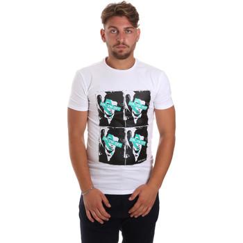 Υφασμάτινα Άνδρας T-shirt με κοντά μανίκια Antony Morato MMKS01743 FA120001 λευκό