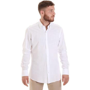 Υφασμάτινα Άνδρας Πουκάμισα με μακριά μανίκια Les Copains 20P.689 P700SL λευκό