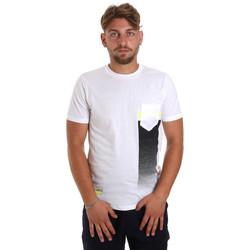 Υφασμάτινα Άνδρας T-shirt με κοντά μανίκια Antony Morato MMKS01794 FA100189 λευκό