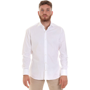 Υφασμάτινα Άνδρας Πουκάμισα με μακριά μανίκια Les Copains 000.076 P3196 λευκό