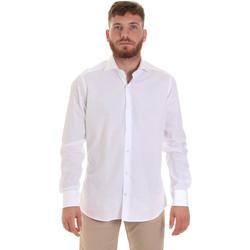 Υφασμάτινα Άνδρας Πουκάμισα με μακριά μανίκια Les Copains 000.006 P3196SL λευκό