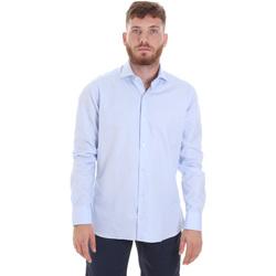 Υφασμάτινα Άνδρας Πουκάμισα με μακριά μανίκια Les Copains 20P.887 P3196SL Μπλε