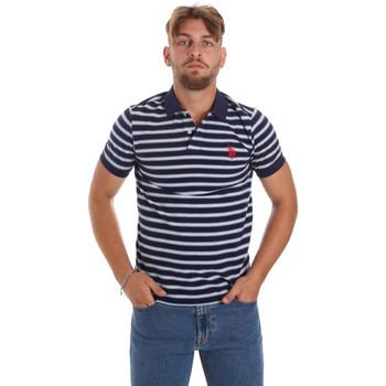 Υφασμάτινα Άνδρας Πόλο με κοντά μανίκια  U.S Polo Assn. 56336 52802 Μπλε