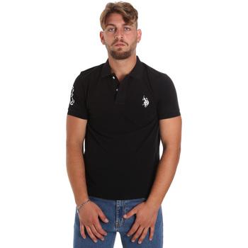 Υφασμάτινα Άνδρας Πόλο με κοντά μανίκια  U.S Polo Assn. 55985 41029 Μαύρος