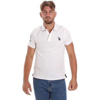 Υφασμάτινα Άνδρας Πόλο με κοντά μανίκια  U.S Polo Assn. 55985 41029 λευκό