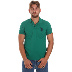 Υφασμάτινα Άνδρας Πόλο με κοντά μανίκια  U.S Polo Assn. 55959 41029 Πράσινος