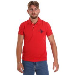 Υφασμάτινα Άνδρας Πόλο με κοντά μανίκια  U.S Polo Assn. 55959 41029 το κόκκινο