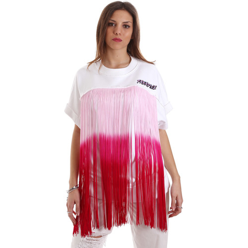 Υφασμάτινα Γυναίκα Φούτερ Versace B6HVB76713956003 λευκό