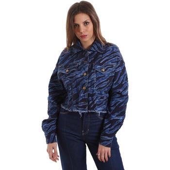 Υφασμάτινα Γυναίκα Τζιν Μπουφάν/Jacket  Versace C0HVB939AQC5Q904 Μπλε