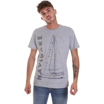 Υφασμάτινα Άνδρας T-shirt με κοντά μανίκια Navigare NV31109 Γκρί