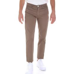 Υφασμάτινα Άνδρας Παντελόνια Chino/Carrot Sseinse PSE555SS καφέ