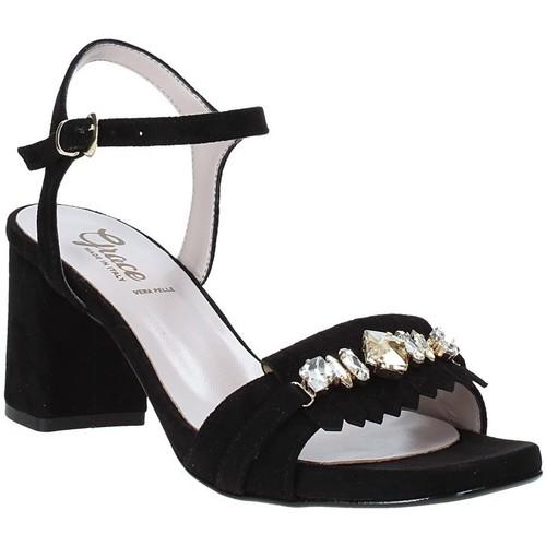 Παπούτσια Γυναίκα Σανδάλια / Πέδιλα Grace Shoes 116V005 Μαύρος