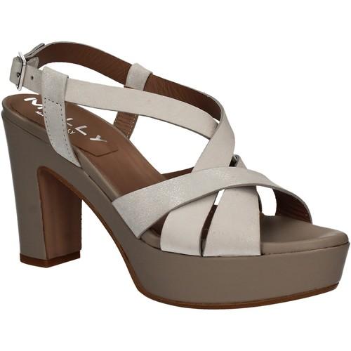 Παπούτσια Γυναίκα Σανδάλια / Πέδιλα Mally 5744 Ασήμι