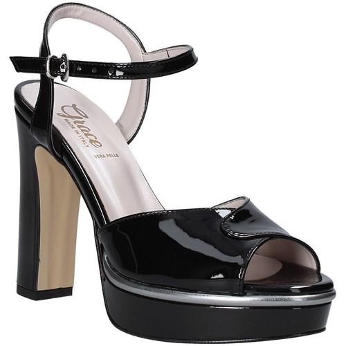 Παπούτσια Γυναίκα Σανδάλια / Πέδιλα Grace Shoes 5753003 Μαύρος