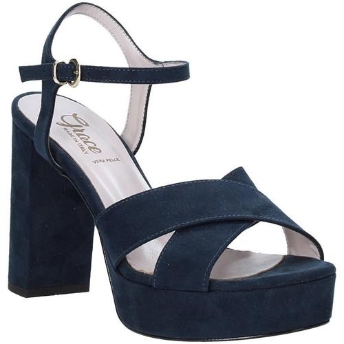 Παπούτσια Γυναίκα Σανδάλια / Πέδιλα Grace Shoes 492PL003 Μπλε