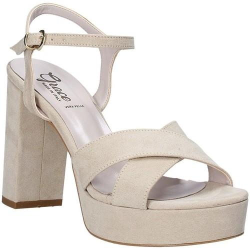 Παπούτσια Γυναίκα Σανδάλια / Πέδιλα Grace Shoes 492PL003 Μπεζ