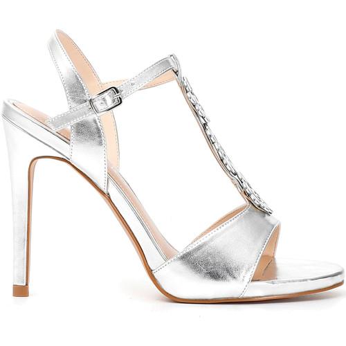 Παπούτσια Γυναίκα Σανδάλια / Πέδιλα Café Noir MC907 Ασήμι