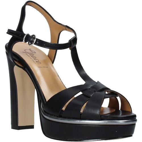 Παπούτσια Γυναίκα Σανδάλια / Πέδιλα Grace Shoes 5753007 Μαύρος
