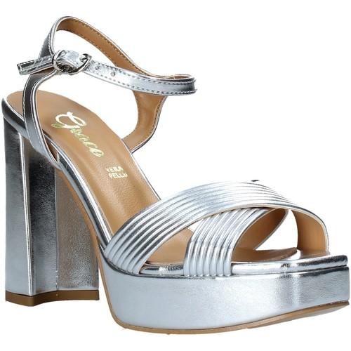 Παπούτσια Γυναίκα Σανδάλια / Πέδιλα Grace Shoes 174003 Ασήμι