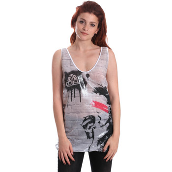 Υφασμάτινα Γυναίκα Αμάνικα / T-shirts χωρίς μανίκια Fornarina BE175J67H27509 λευκό