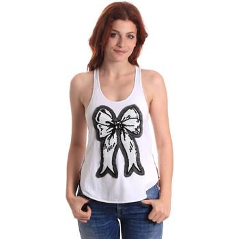 Υφασμάτινα Γυναίκα Αμάνικα / T-shirts χωρίς μανίκια Fornarina BE17T517JG0709 λευκό