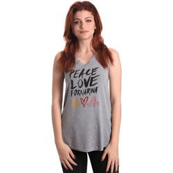 Υφασμάτινα Γυναίκα Αμάνικα / T-shirts χωρίς μανίκια Fornarina BERT476JF7206 Γκρί