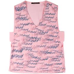 Υφασμάτινα Γυναίκα Αμάνικα / T-shirts χωρίς μανίκια Fornarina BERT486C97366 Ροζ