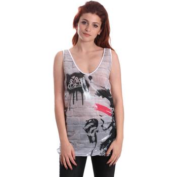 Υφασμάτινα Γυναίκα Αμάνικα / T-shirts χωρίς μανίκια Fornarina SE175J67H27509 λευκό