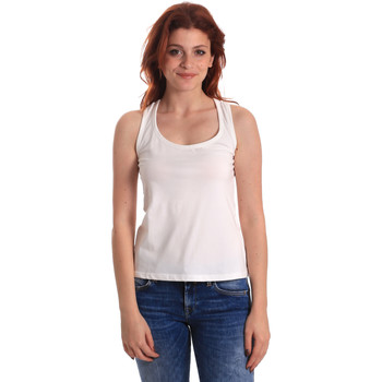Υφασμάτινα Γυναίκα Αμάνικα / T-shirts χωρίς μανίκια Fornarina SE175L04JG0709 λευκό