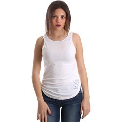 Υφασμάτινα Γυναίκα Αμάνικα / T-shirts χωρίς μανίκια Ea7 Emporio Armani 3GTH54 TJ28Z λευκό