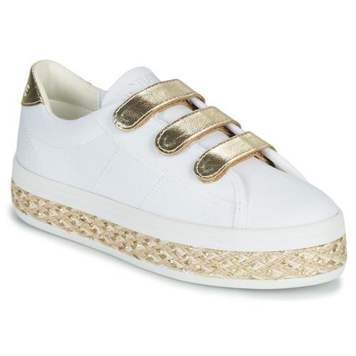 Παπούτσια Γυναίκα Χαμηλά Sneakers No Name MALIBU STRAPS Άσπρο / Gold