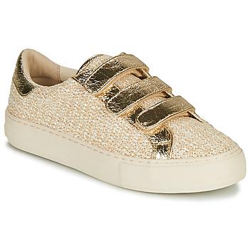 Παπούτσια Γυναίκα Χαμηλά Sneakers No Name ARCADE STRAPS Beige / Gold