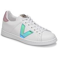 Παπούτσια Γυναίκα Χαμηλά Sneakers Victoria TENIS VEGANA VINI Άσπρο / Μπλέ / Ροζ