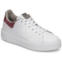 Παπούτσια Γυναίκα Χαμηλά Sneakers Victoria UTOPIA GLITTER Άσπρο / Ροζ